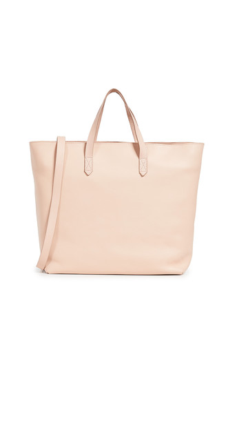 Madewell New Zip Top Tote in pink