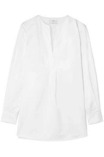 Co - Cotton-poplin Tunic - White