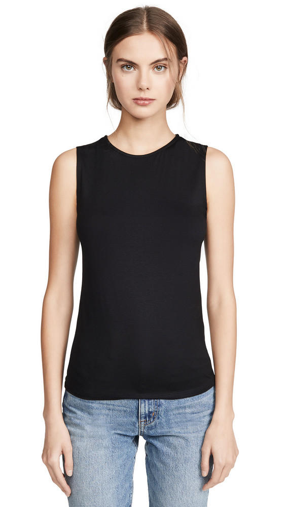 L'AGENCE Shelly Tank Top in black