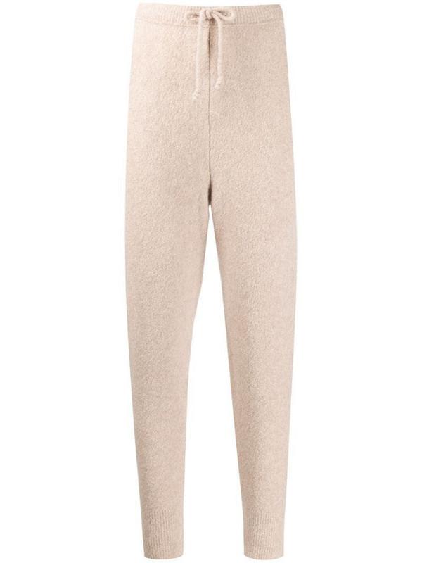 Nanushka Coba knit track pants in neutrals