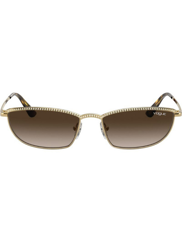 Vogue Eyewear Taura gem embellished sunglasses in gold
