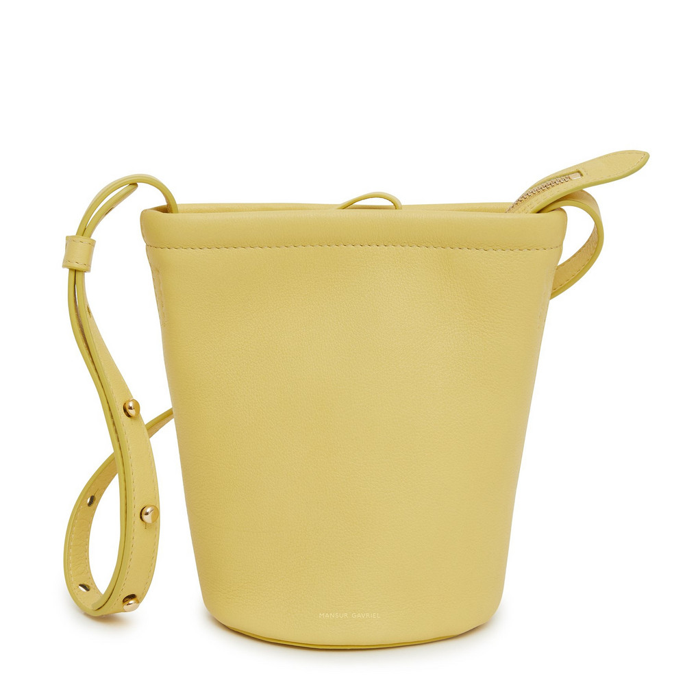 Mansur Gavriel Mini Zip Bucket Bag - Cedro