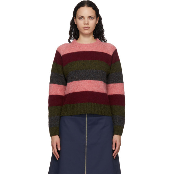 YMC Multicolor Striped Bryer Sweater in multi