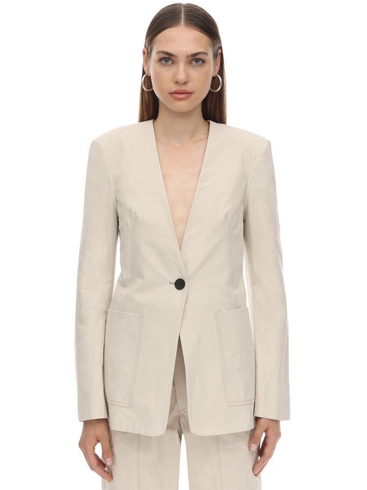 ISABEL MARANT Link Cotton Canvas Jacket in beige
