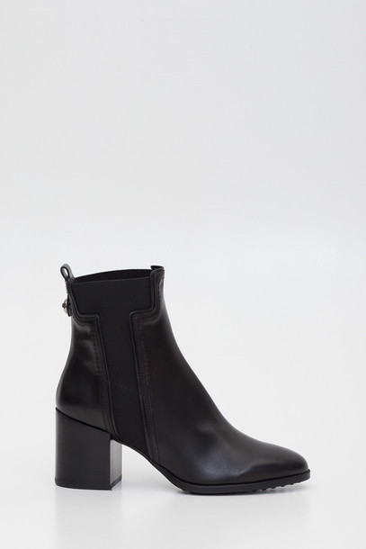 Tods Booties With T Shaped Elastic in nero