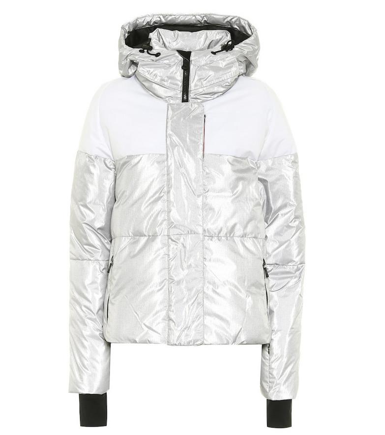 Erin Snow Lolita padded ski jacket in silver