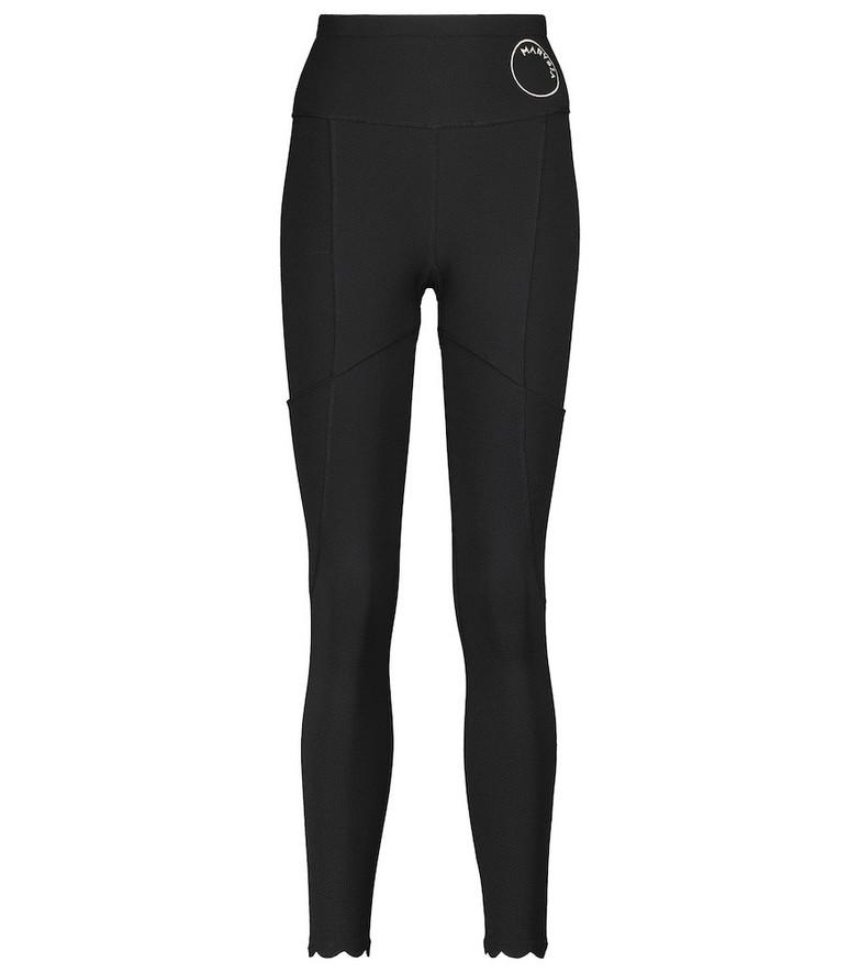Marysia Naomi high-rise stretch-jersey leggings in black