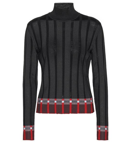 Marni Wool-blend turtleneck sweater in black