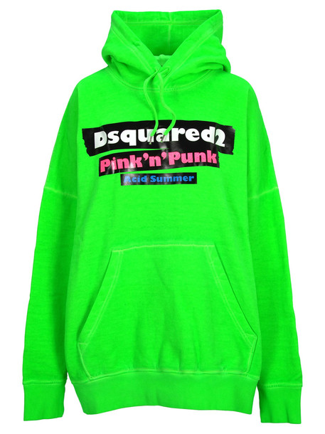 Dsquared2 D Squared Dsquared Oversized Printed Hoodie in green
