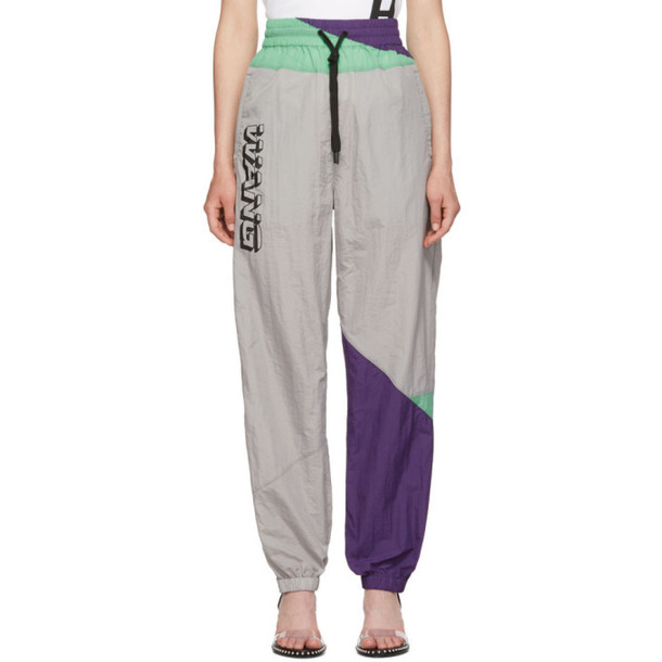 alexanderwang.t Grey Wash and Go Colorblock Lounge Pants