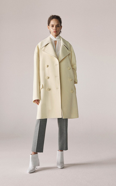 Givenchy Oversized Double Breasted Coat Size: 34 in yellow