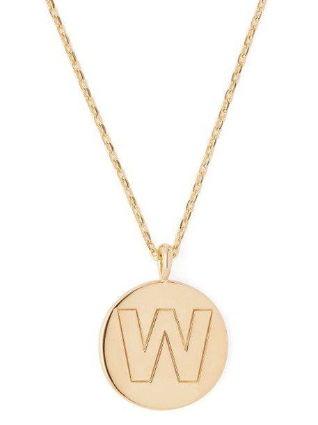 Theodora Warre - W Charm Gold Plated Necklace - Womens - Gold