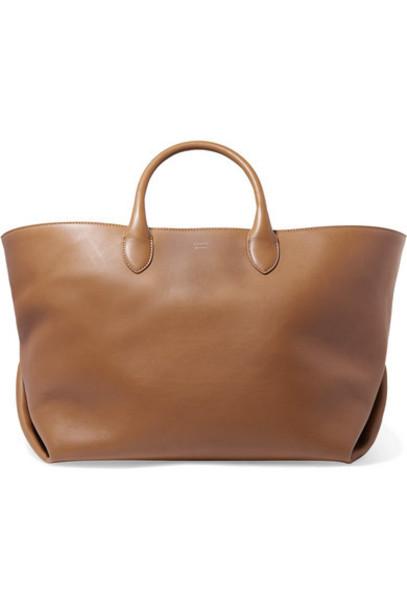 Khaite - Envelope Pleat Medium Leather Tote - Camel