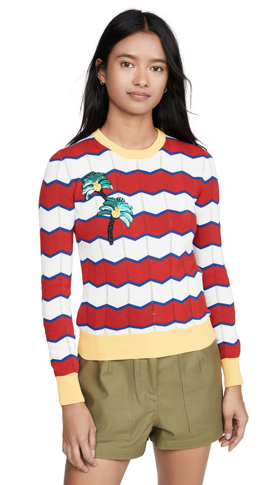Stella Jean Striped Sweater in red