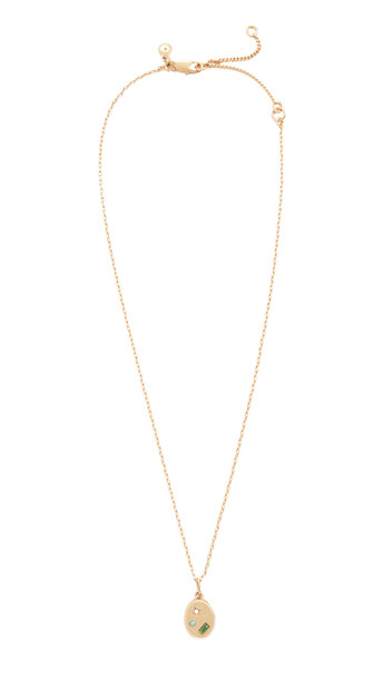 Madewell Finders Stone Pendant Necklace in white / multi