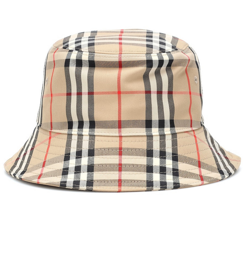 Burberry Vintage Check cotton bucket hat in beige