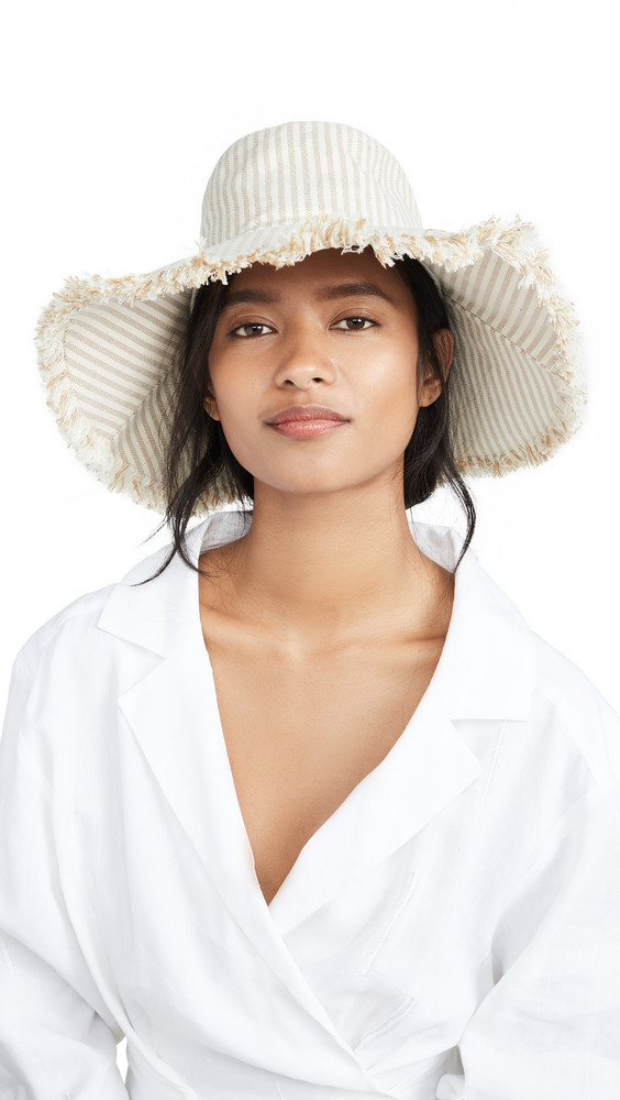 Hat Attack Fringed Canvas Hat in natural