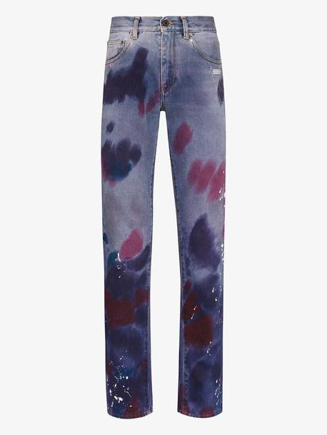 Off-White paint splattered straight leg jeans