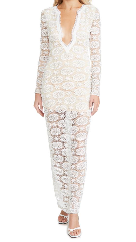 Retrofete Indigo Dress in ivory