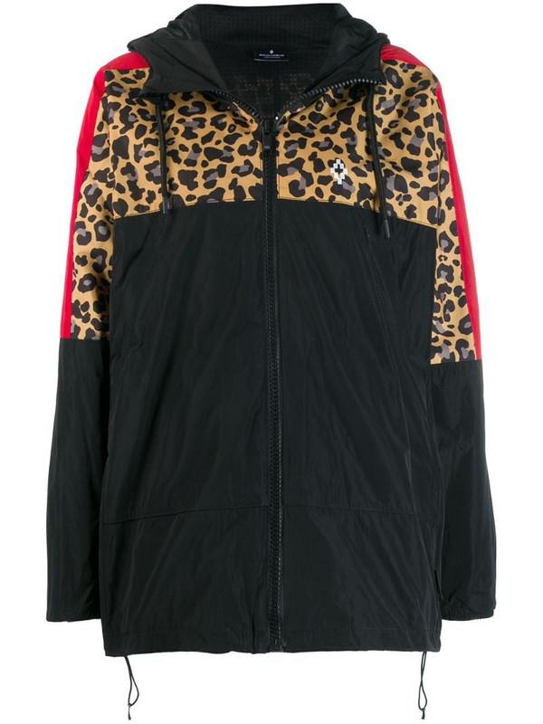 Marcelo Burlon County of Milan contrast panel hooded windbreaker jacket in black
