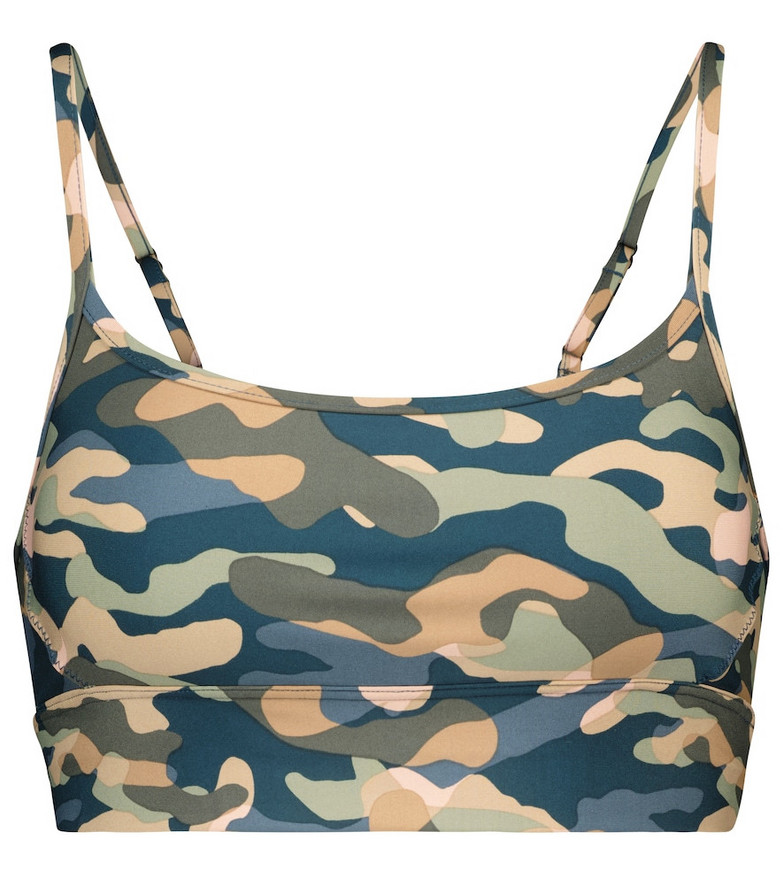 The Upside Natacha camo-print sports bra in green