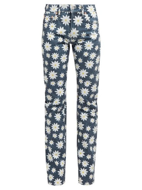 Holiday Boileau - Daisy Print High Rise Jeans - Womens - Navy Multi