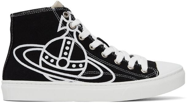 Vivienne Westwood Black & White Plimsoll High Sneakers