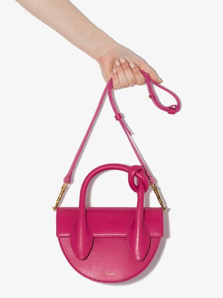 Yuzefi YUZFI DOLORES KNOT LTHR MINI TOTE in pink