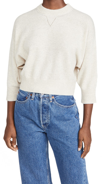 FRAME Le High Rise Boxy Cashmere Sweater