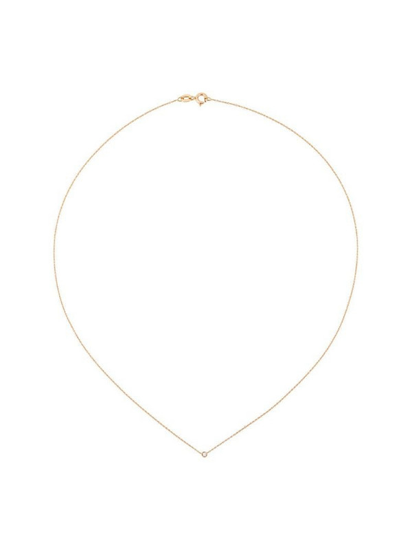 Wouters & Hendrix Gold single champagne diamond necklace in pink