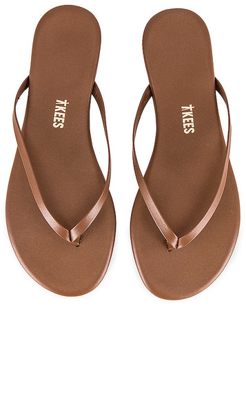 TKEES Foundations Shimmer Sandal in Brown