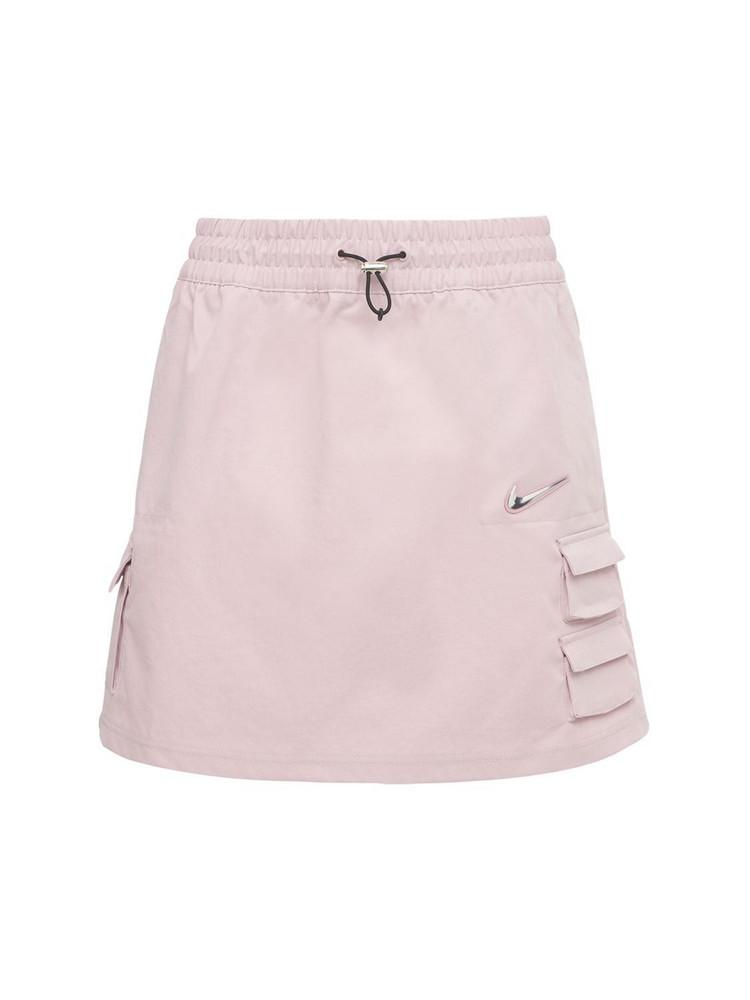 NIKE Tech Mini Skirt in grey / pink