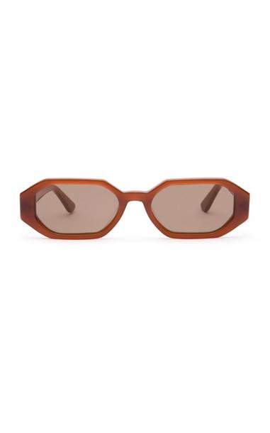 Velvet Canyon The Stranger Heptagon-Frame Sunglasses in brown