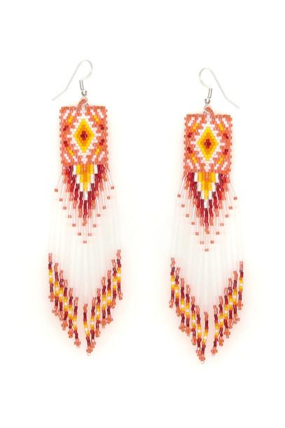 Jessie Western Zuni Chandelier Earrings in white