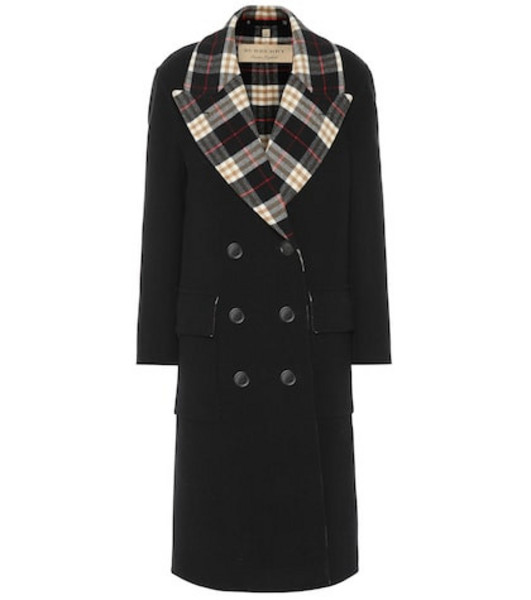 Burberry Wool and cashmere coat in black