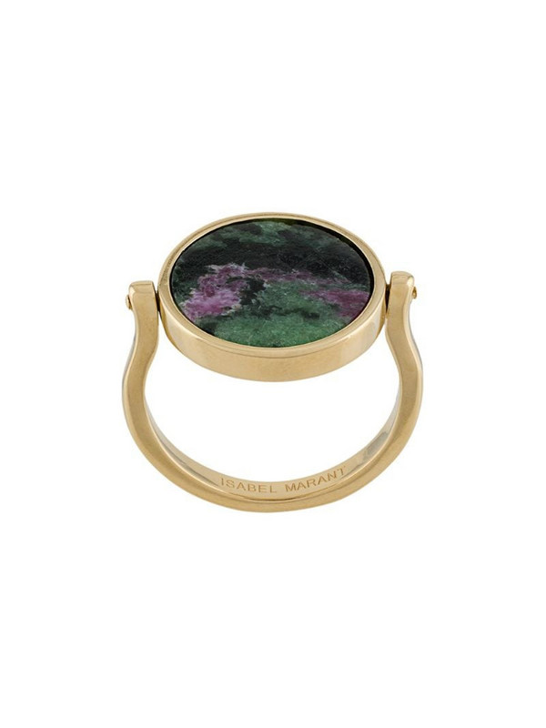 Isabel Marant Julius stone-embellished ring in green