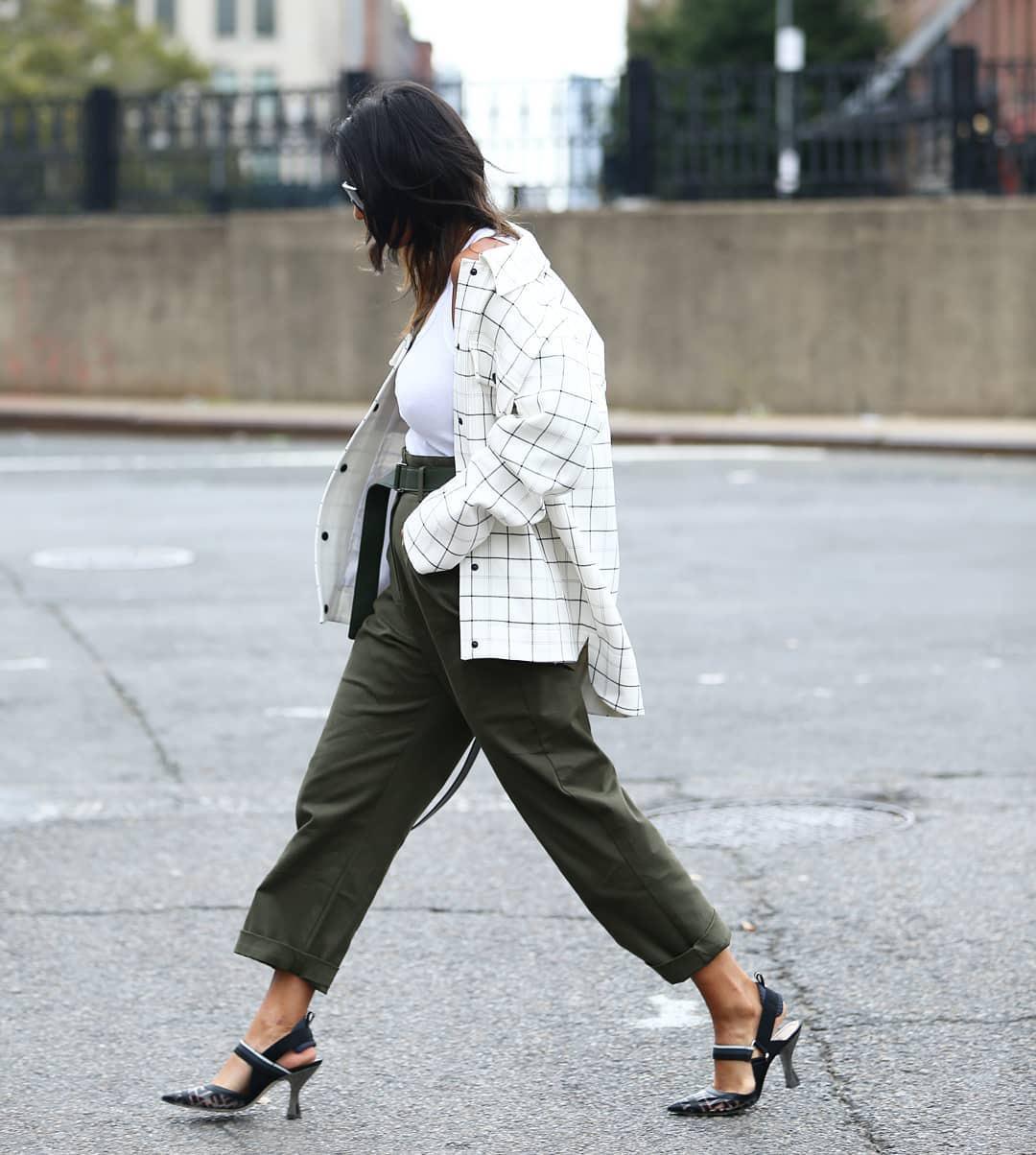 pants high waisted pants slingbacks white shirt white top