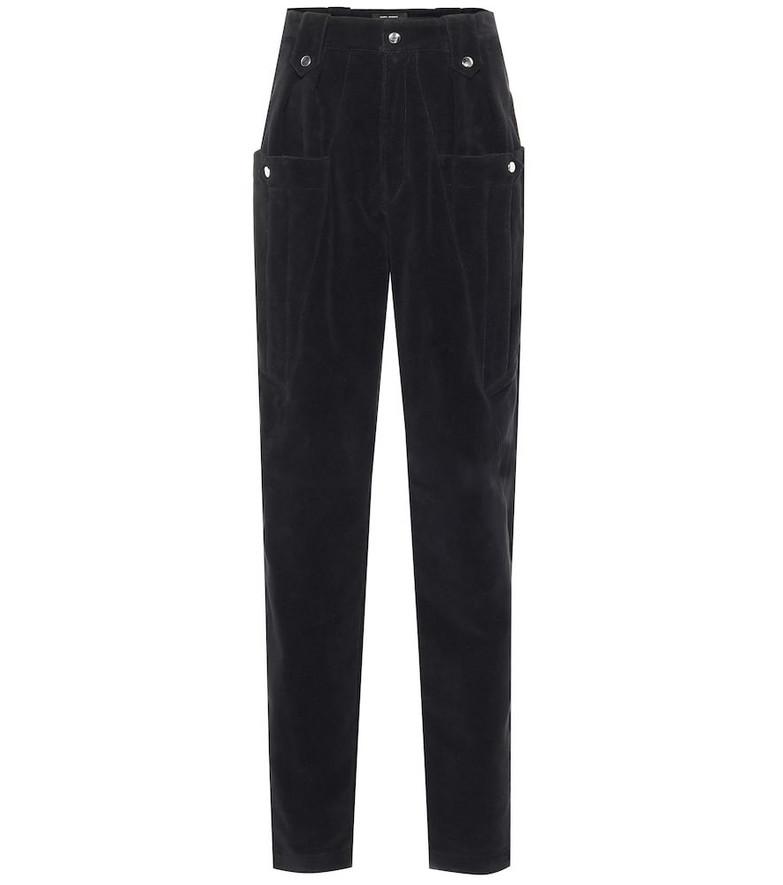 Isabel Marant Derrisy cotton-moleskin pants in black