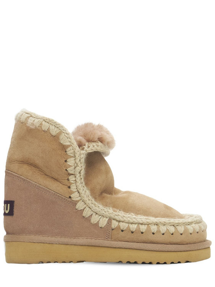 MOU 20mm Eskimo 18 Shearling Boots in camel