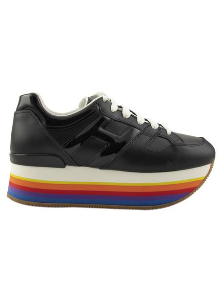 Hogan Rainbow Platform Sneakers in black