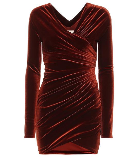 Alexandre Vauthier Velvet minidress in red
