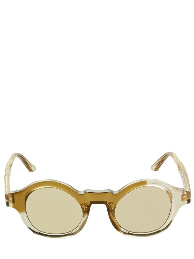 KUBORAUM BERLIN L4 Two Tone Round Acetate Sunglasses in brown / multi