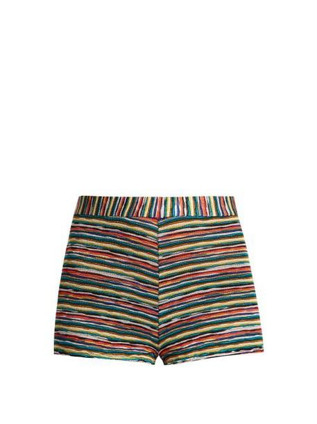 Missoni Mare - Striped Knit Hotpant Shorts - Womens - Multi
