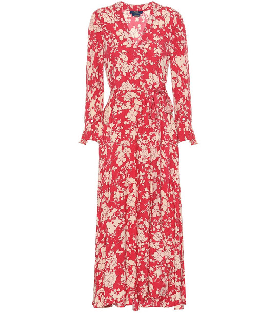 Polo Ralph Lauren Floral wrap dress in red
