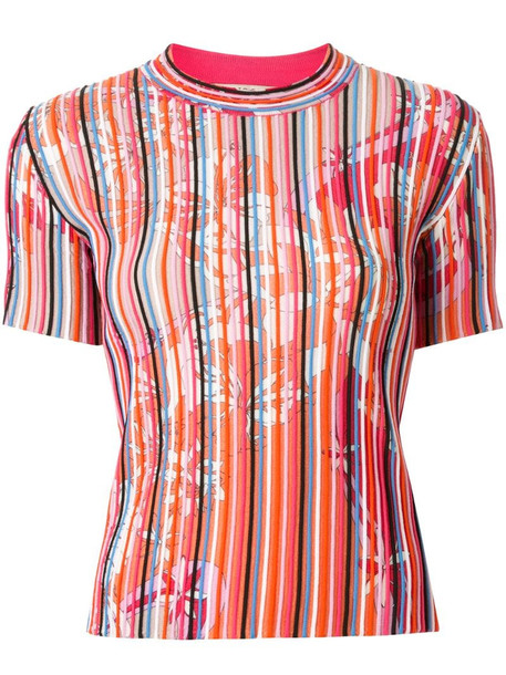 Emilio Pucci striped T-shirt in pink