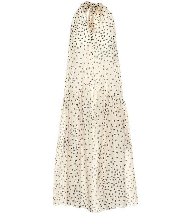 Stella McCartney Polka-dot cotton and silk dress in white