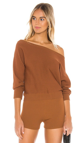 superdown Mailyn Pullover Sweater in Brown