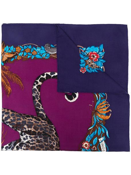 Hermès pre-owned bird-print scarf in purple