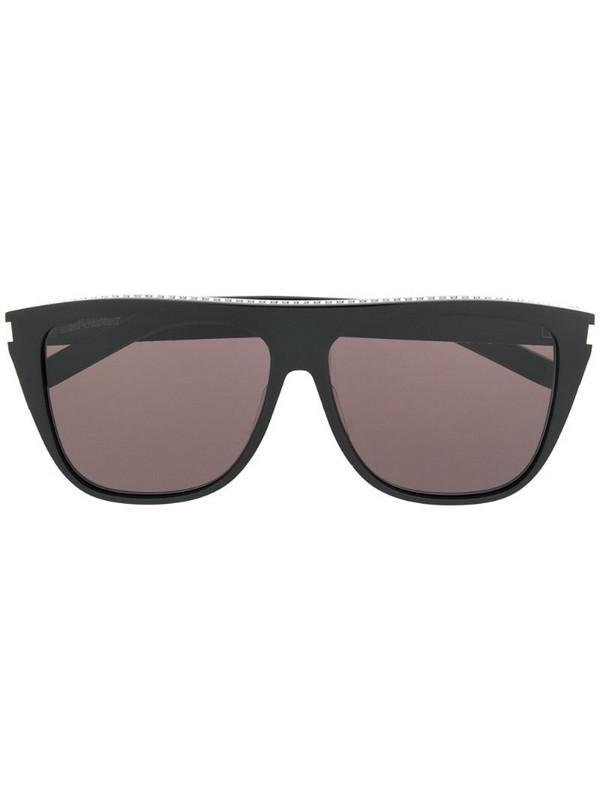 Saint Laurent Eyewear rhinestone embellished sunglasses in black