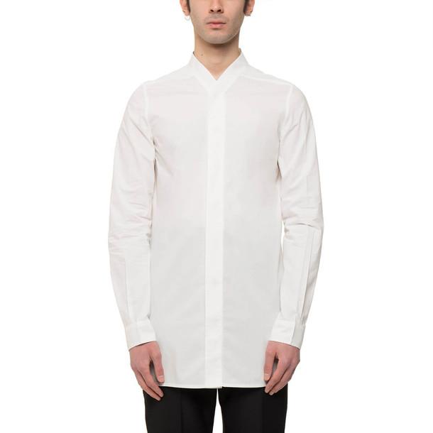 Rick Owens Faun Shirt in white